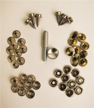 Canvas fastener kit