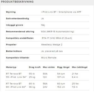 minn kota RIPTIDE TERROVA BT IP-LINK frontmonterad elmotor