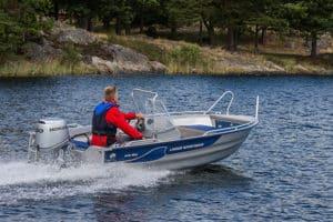 linder sportsman 445 max boat båt westgear