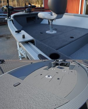 heltäckningsmatta vinylmatta båt alumacraft