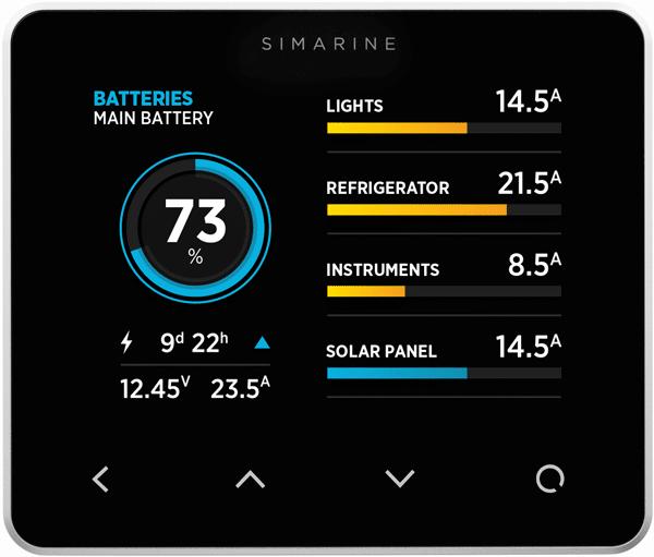 Rv Electrical System Monitor : Simarine pico batteriövervakning svart köp allt inom