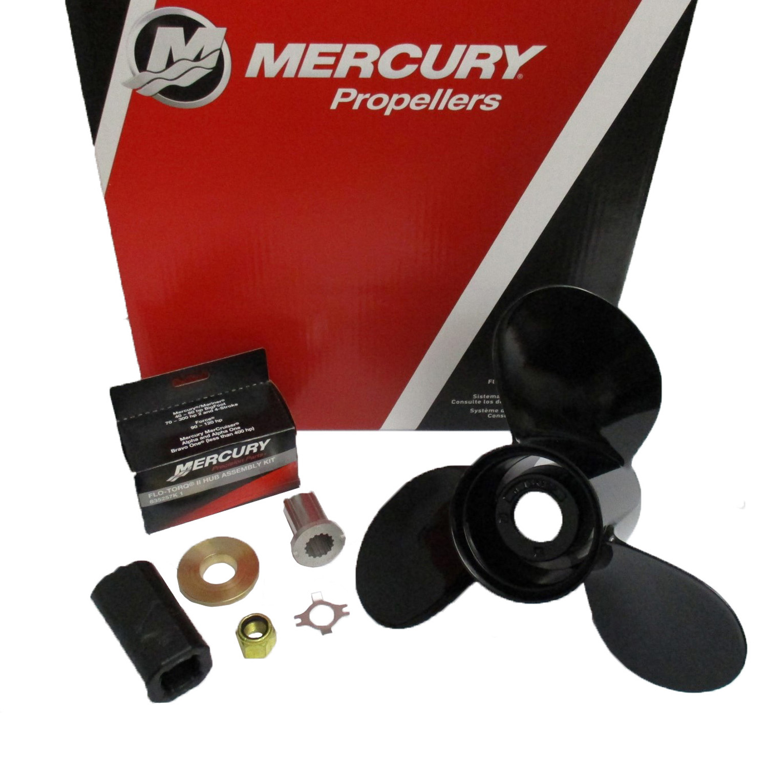 77342A45 Mercury Black Max Propeller